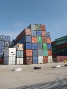 Conteneurs sur le port de Southampton
