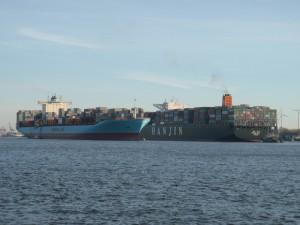 Croisement sur l'Elbe