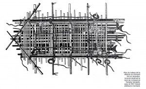 Plan du radeau par Corréard