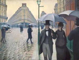 Jour de pluie à Paris de Gustave Caillebotte